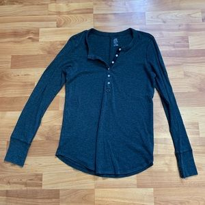 Aerie Real Soft Henley Long Sleeve